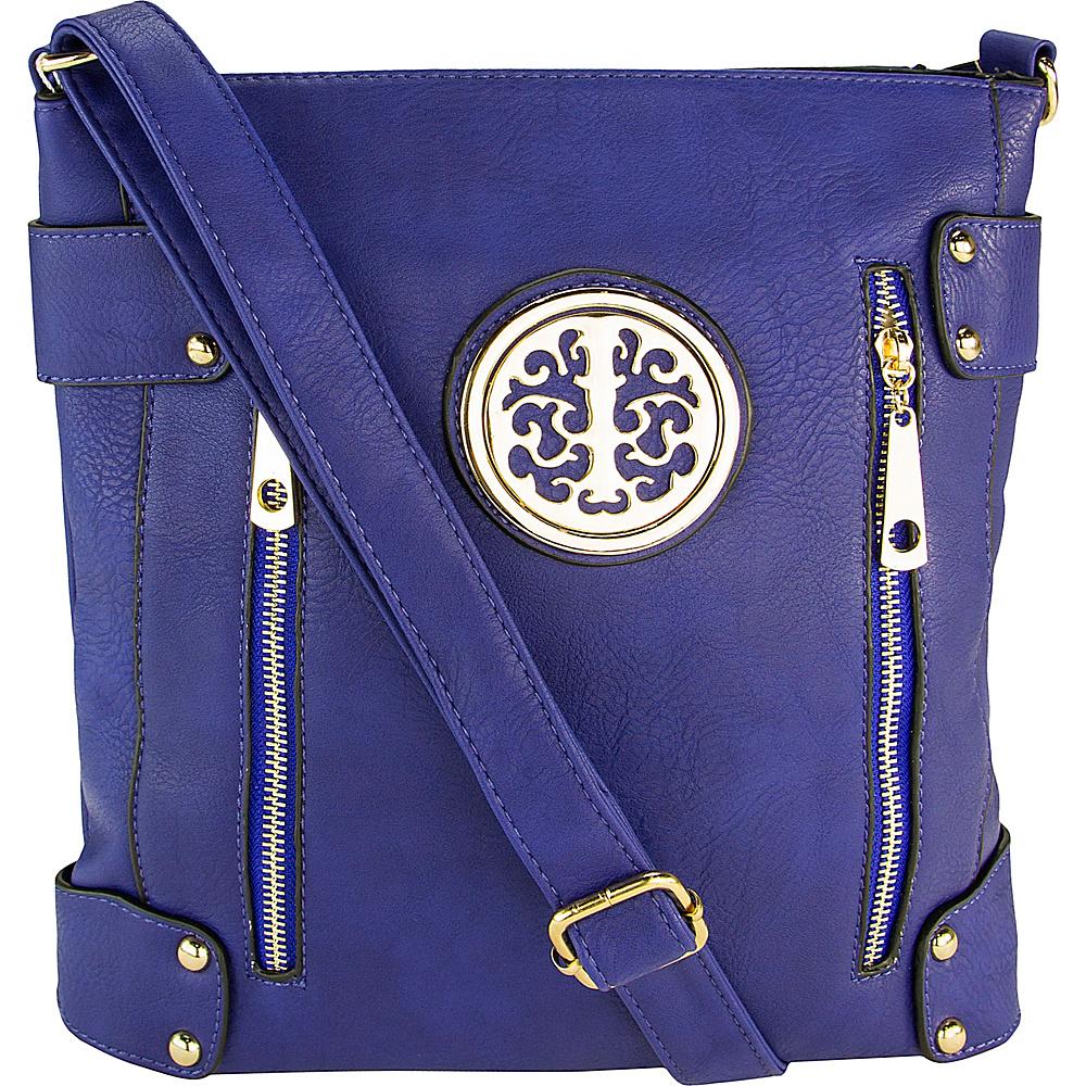 MKF Collection by Mia K. Farrow Fanisa Cross-Body Bag Blue - MKF Collection by Mia K. Farrow Leather Handbags - Handbags, Leather Handbags