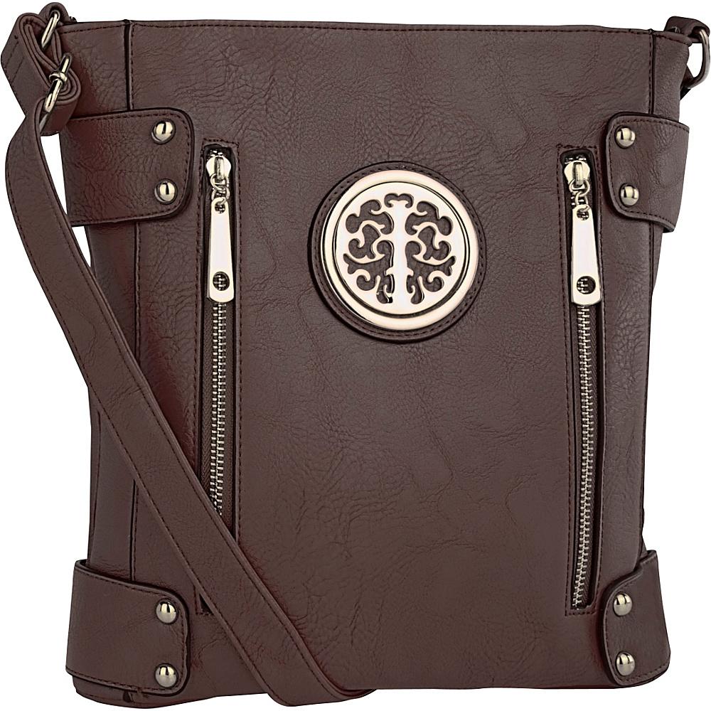 MKF Collection Fanisa Cross-Body Bag Coffee - MKF Collection Manmade Handbags - Handbags, Manmade Handbags