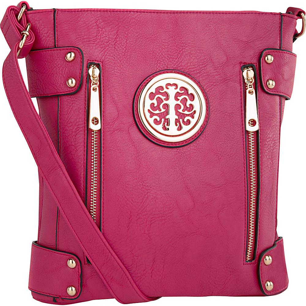 MKF Collection by Mia K. Farrow Fanisa Cross-Body Bag Purple - MKF Collection by Mia K. Farrow Leather Handbags - Handbags, Leather Handbags