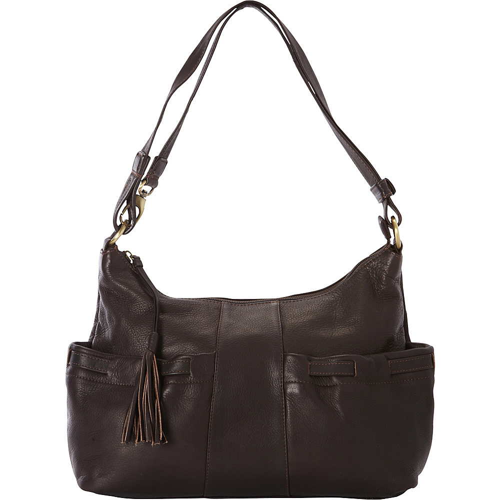 Derek Alexander EW Shoulder Bag Brown - Derek Alexander Leather Handbags - Handbags, Leather Handbags