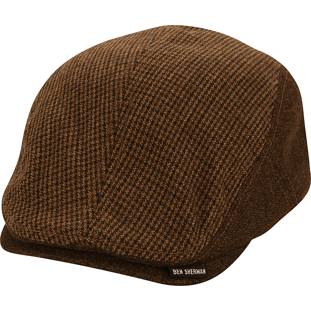 Ben Sherman Wool Driving Cap Brown - L/XL - Ben Sherman Hats/Gloves/Scarves