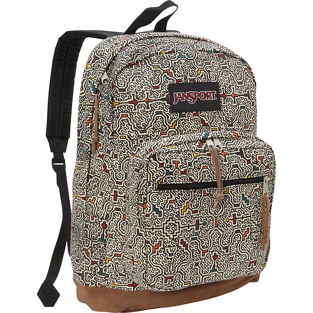 JanSport Right Pack Laptop Backpack- Discontinued Colors Neutral Peruvian Maze - JanSport Business & Laptop Backpacks - Backpacks, Business & Laptop Backpacks