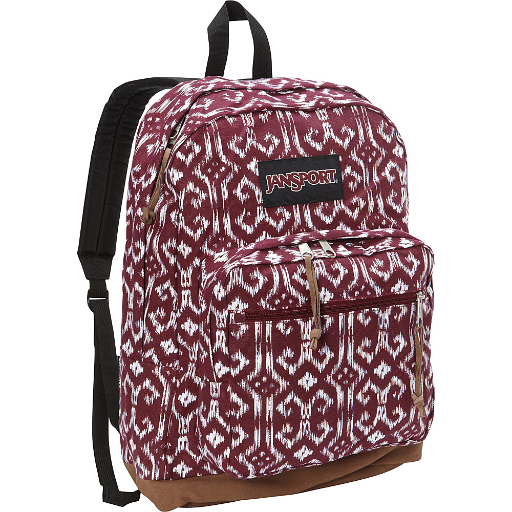 JanSport Right Pack Laptop Backpack- Discontinued Colors Russet Red Moroccan Ikat - JanSport Business & Laptop Backpacks - Backpacks, Business & Laptop Backpacks