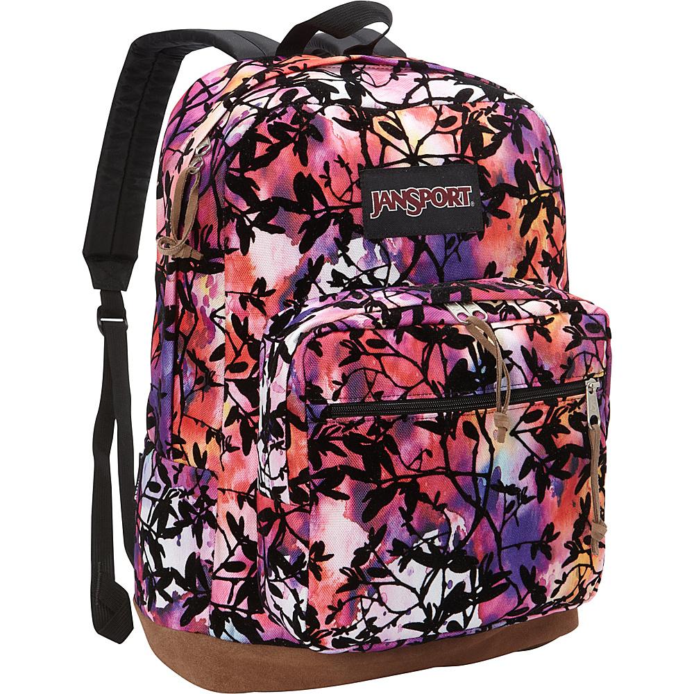 JanSport Right Pack Laptop Backpack- Discontinued Colors Multi Rainbow Garden Flock - JanSport Business & Laptop Backpacks - Backpacks, Business & Laptop Backpacks