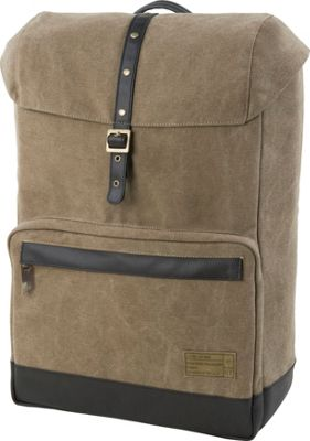 HEX Coast Canvas Backpack Infinity Khaki - HEX Business & Laptop Backpacks