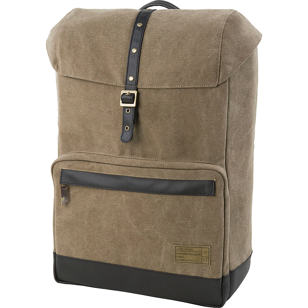 HEX Coast Canvas Backpack Infinity Khaki HEX Business Laptop Backpacks