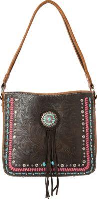 Montana West Concho Hobo Bag Coffee - Montana West Manmade Handbags