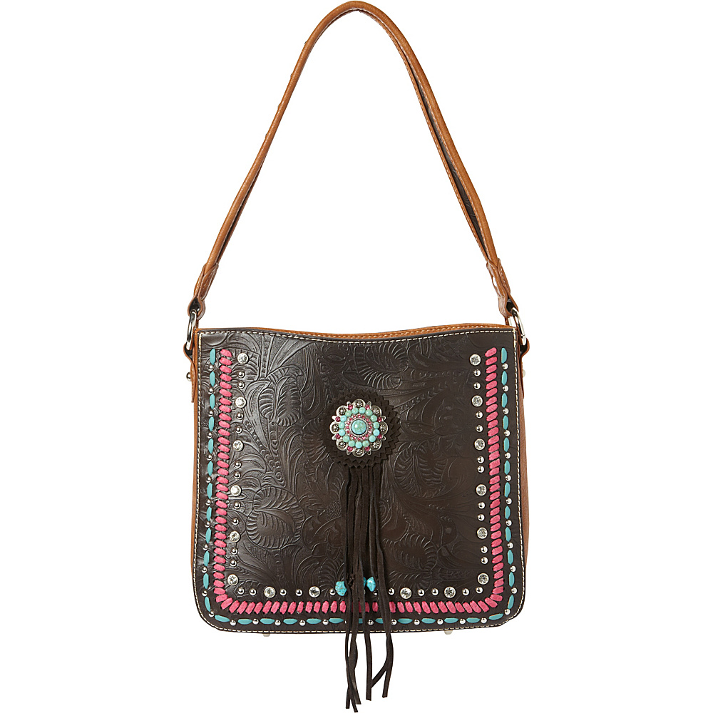 Montana West Concho Hobo Bag Coffee Montana West Manmade Handbags