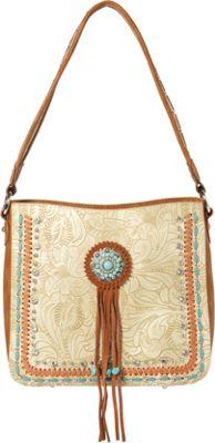 Montana West Concho Hobo Bag Beige - Montana West Manmade Handbags