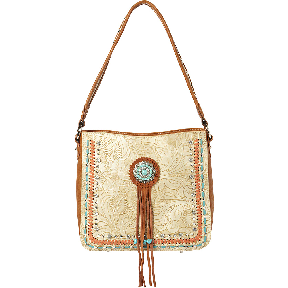 Montana West Concho Hobo Bag Beige Montana West Manmade Handbags