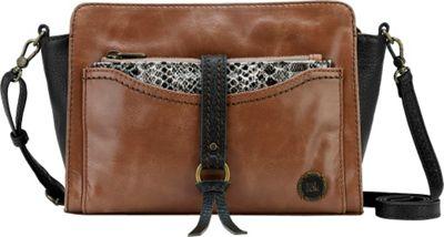 The Sak Sonora Phone Charging Crossbody Brown Snake Multi - The Sak Leather Handbags
