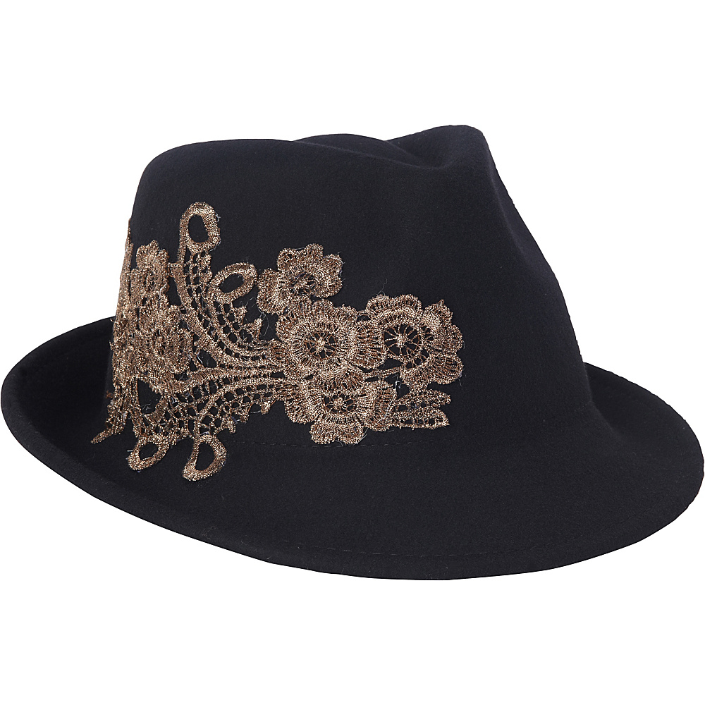 Adora Hats Wool Felt Fedora Hat Black Adora Hats Hats Gloves Scarves