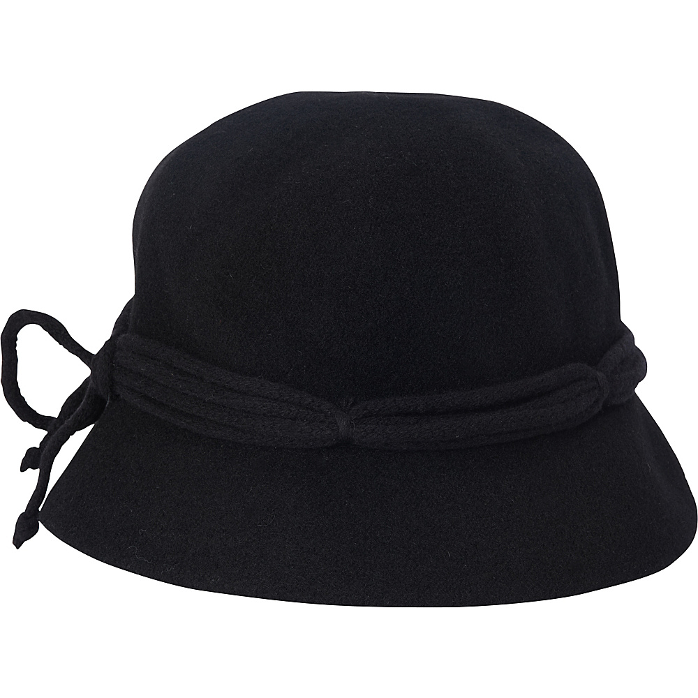 Adora Hats Wool Cloche Hat Black Adora Hats Hats Gloves Scarves