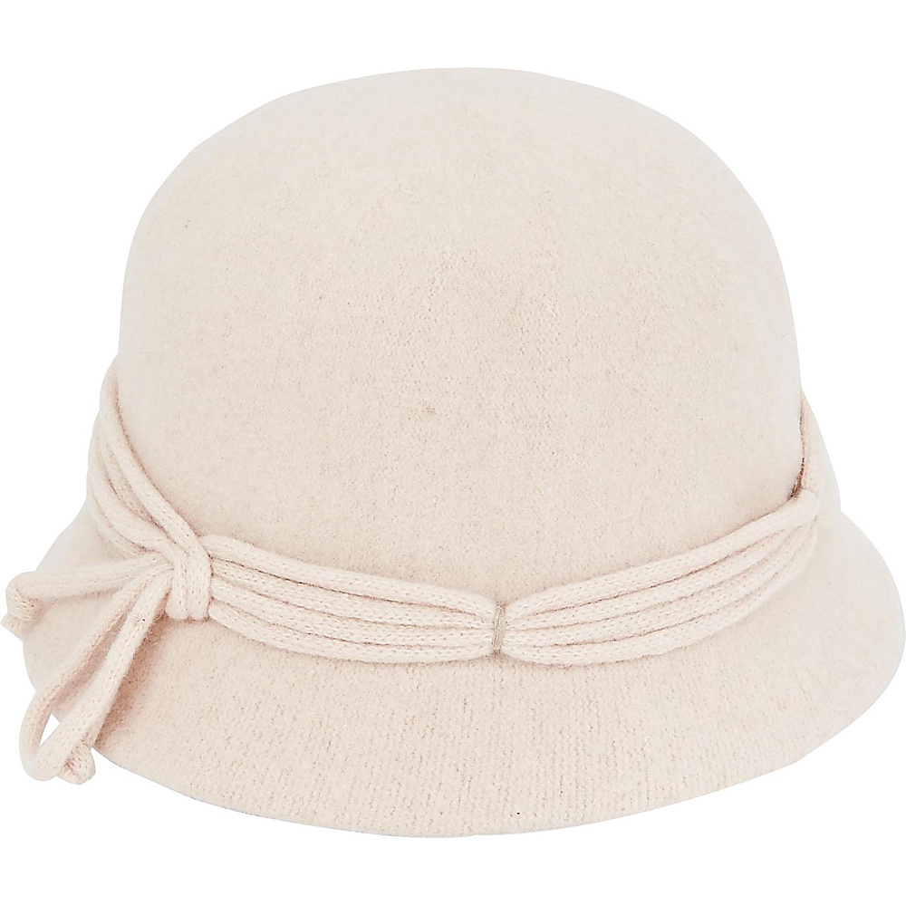 Adora Hats Wool Cloche Hat Ivory Adora Hats Hats Gloves Scarves