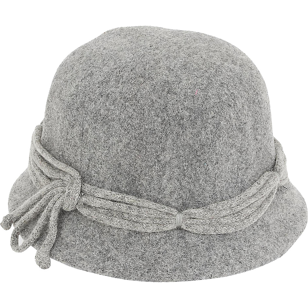 Adora Hats Wool Cloche Hat Grey Adora Hats Hats Gloves Scarves