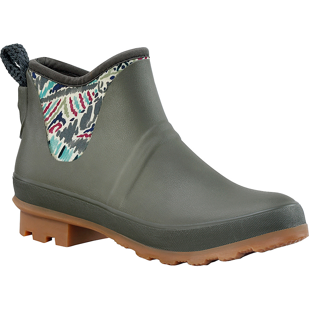 Sakroots Mano Ankle Rain Boot 9 - M (Regular/Medium) - Slate Brave Beauti - Sakroots Womens Footwear - Apparel & Footwear, Women's Footwear