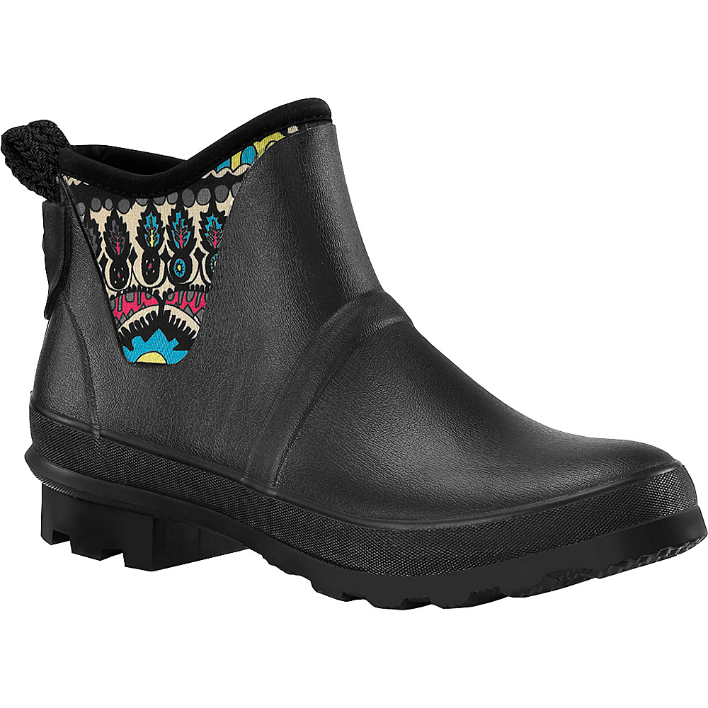 Sakroots Mano Ankle Rain Boot 6 - M (Regular/Medium) - Radiant One World - Sakroots Womens Footwear - Apparel & Footwear, Women's Footwear
