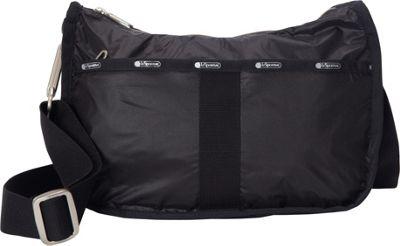 LeSportsac Essential Hobo True Black C - LeSportsac Fabric Handbags