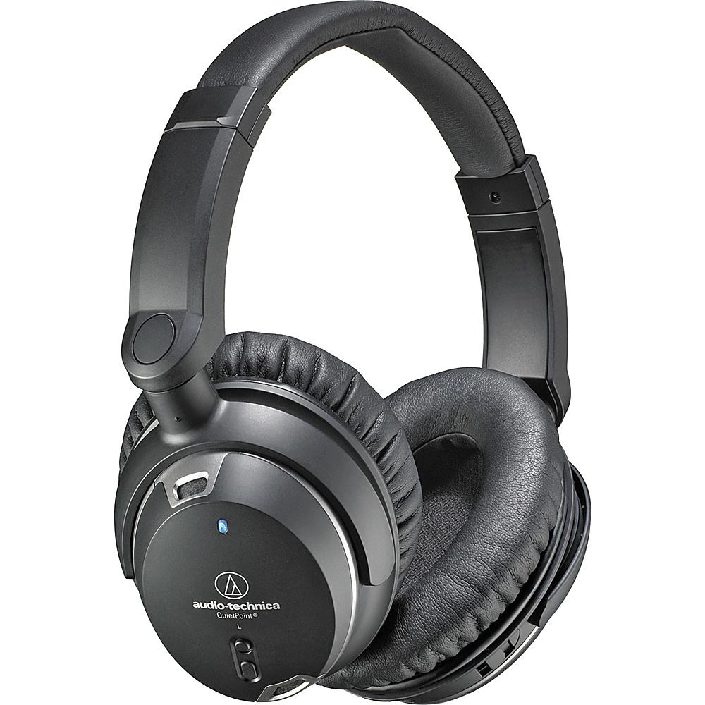Audio Technica QuietPoint Active Noise Canceling Over The Ear Headphones Black Audio Technica Headphones Speakers