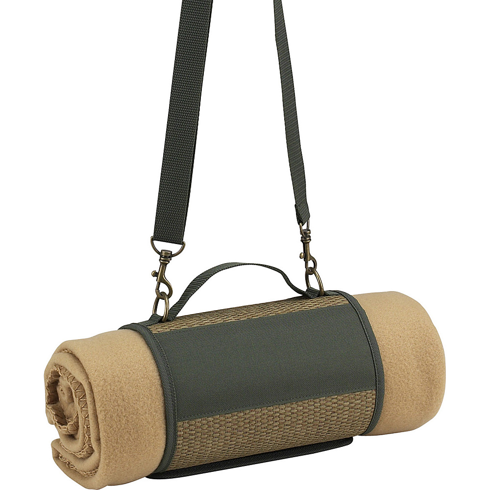 Picnic at Ascot ECO Harness and Fleece Blanket Natural/Forest Green - Picnic at Ascot Outdoor Accessories - Outdoor, Outdoor Accessories