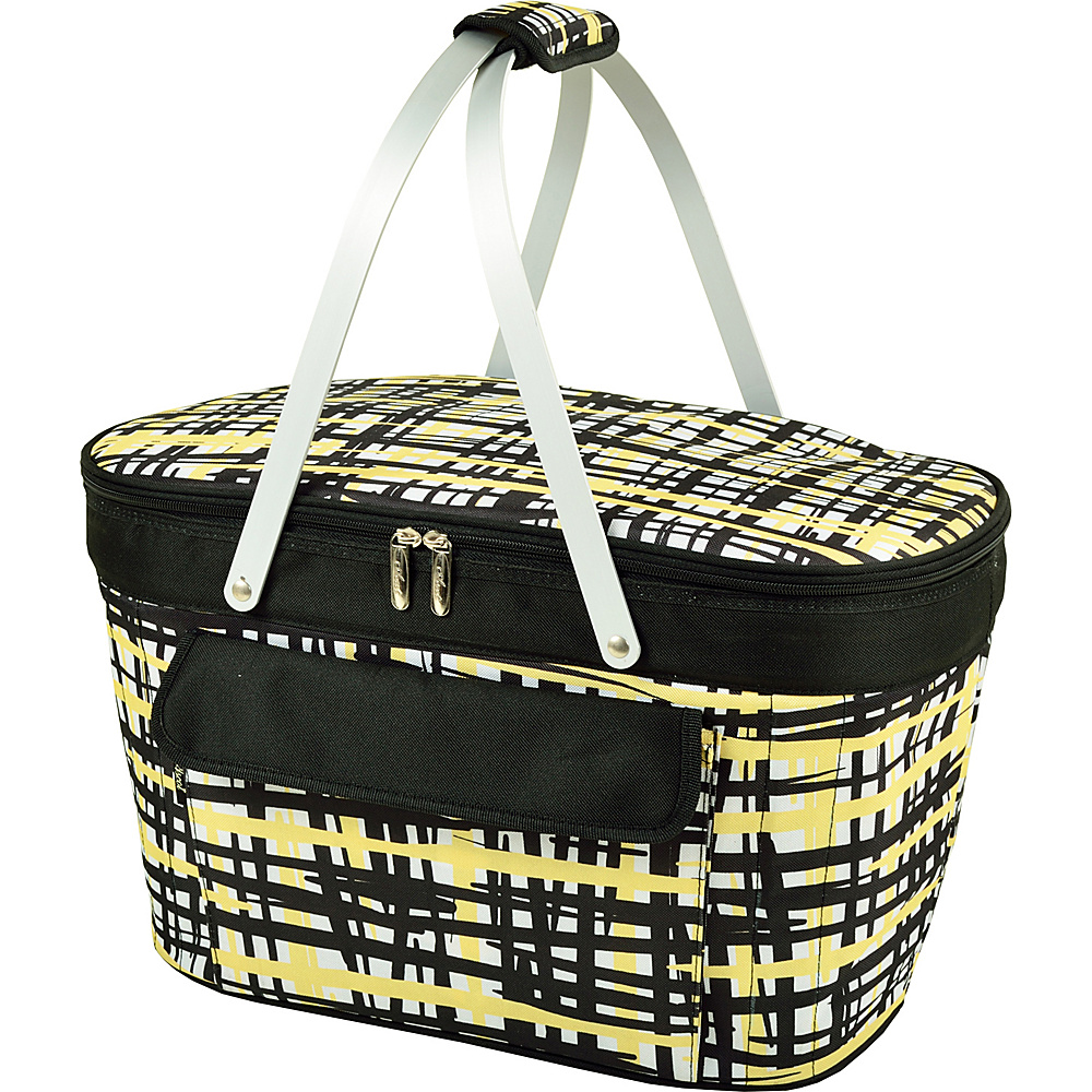 Picnic at Ascot Stylish Insulated Market Basket / Picnic Tote with Sewn in Aluminum Frame Paris - Picnic at Ascot Outdoor Coolers - Outdoor, Outdoor Coolers