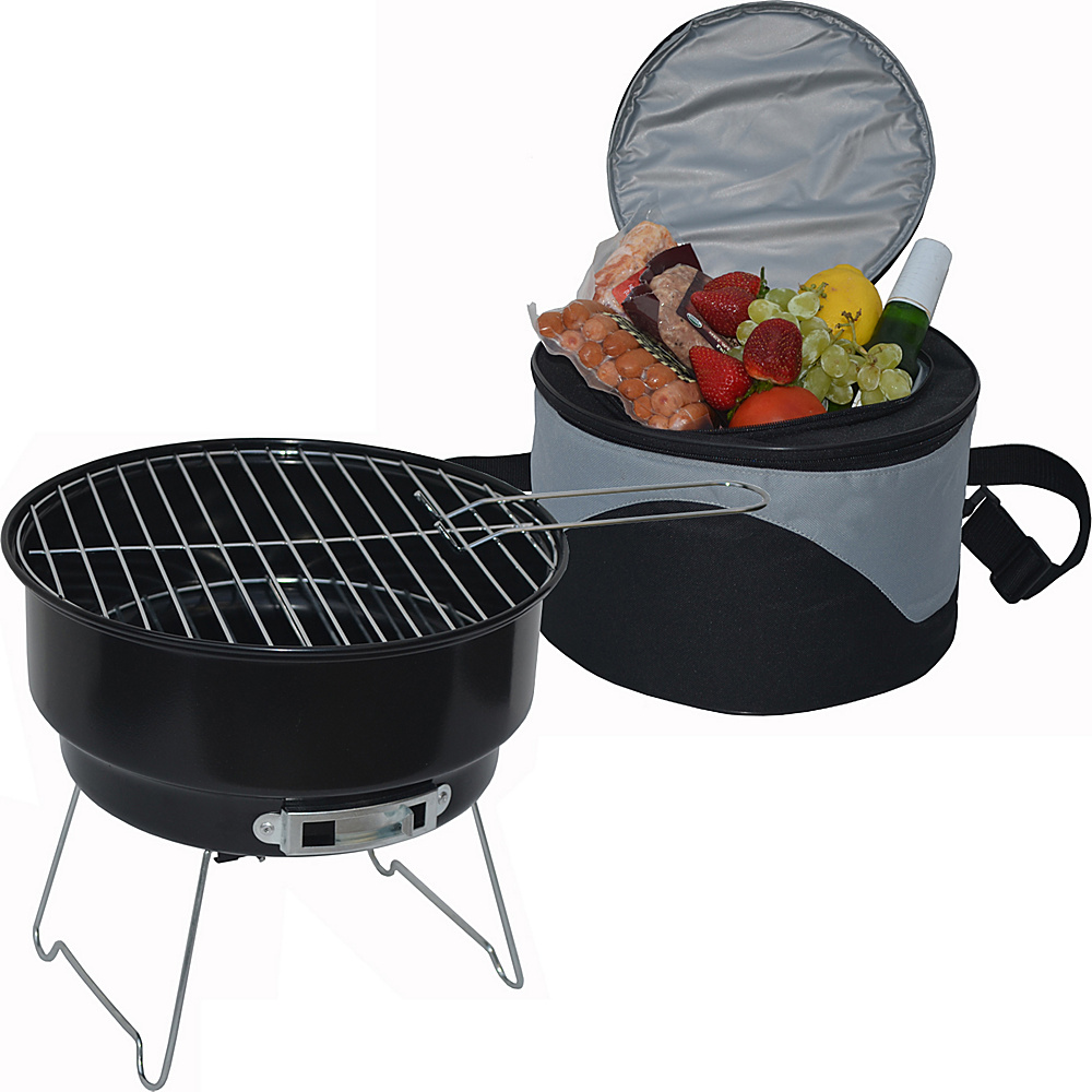 Picnic at Ascot BBQ Grill and Cooler Combo Set Black - Picnic at Ascot Outdoor Accessories - Outdoor, Outdoor Accessories
