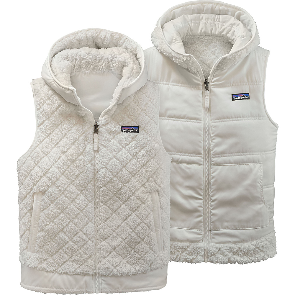 Patagonia Womens Los Gatos Hooded Vest L - Birch White - Patagonia Womens Apparel - Apparel & Footwear, Women's Apparel