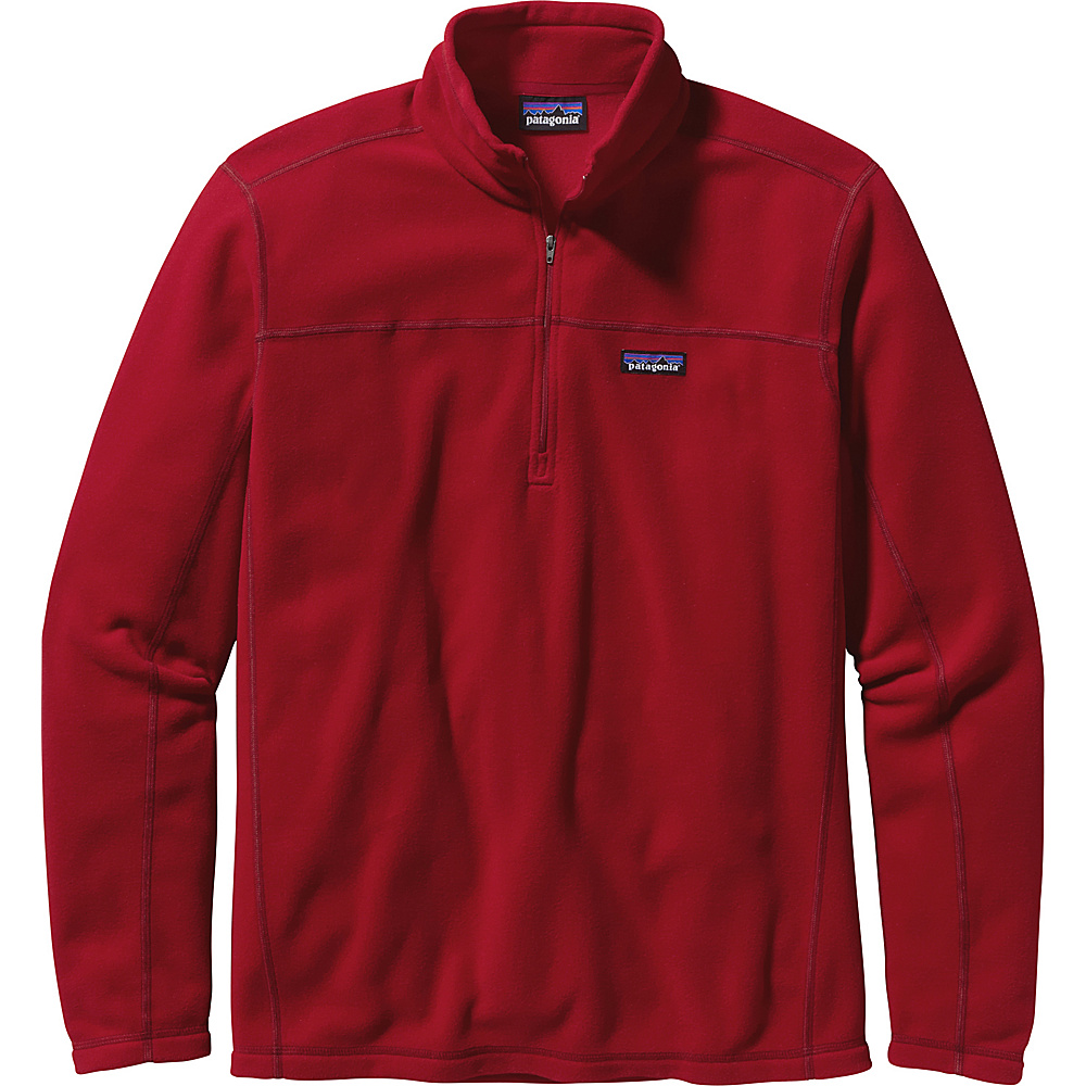 Patagonia Mens Micro D Pullover Sweater XS - Classic Red - Patagonia Mens Apparel - Apparel & Footwear, Men's Apparel