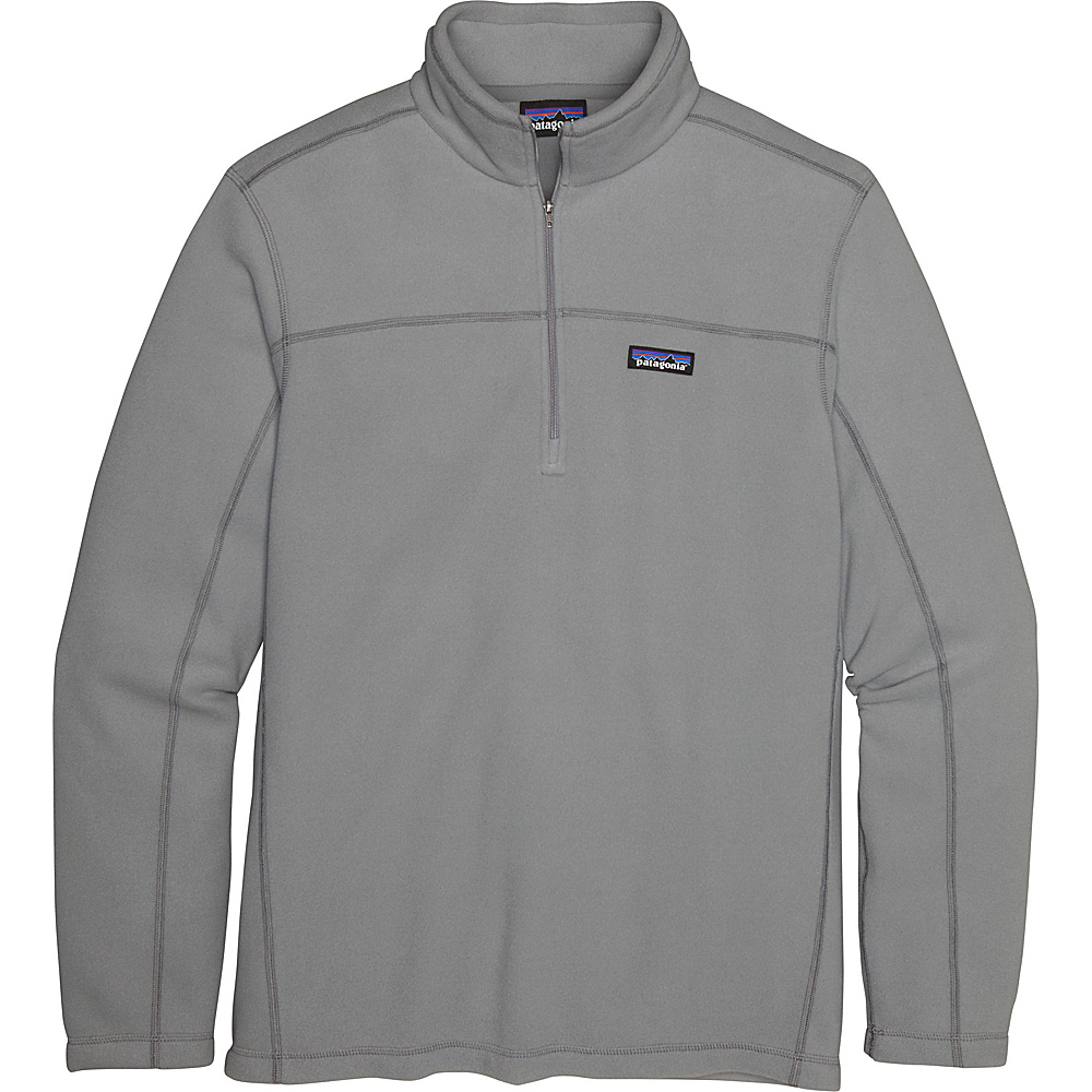 Patagonia Mens Micro D Pullover Sweater S - Feather Grey - Patagonia Mens Apparel - Apparel & Footwear, Men's Apparel