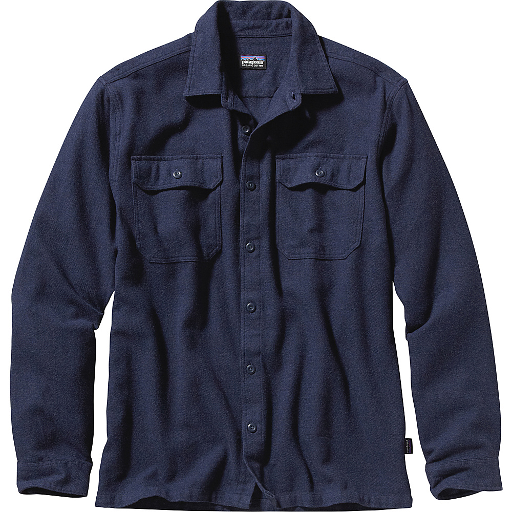 Patagonia Mens Long Sleeve Fjord Flannel 2XL - Navy Blue - Patagonia Mens Apparel - Apparel & Footwear, Men's Apparel