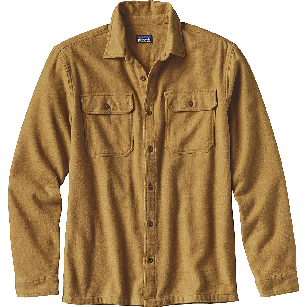 Patagonia Mens Long Sleeve Fjord Flannel XS - Oaks Brown - Patagonia Mens Apparel - Apparel & Footwear, Men's Apparel