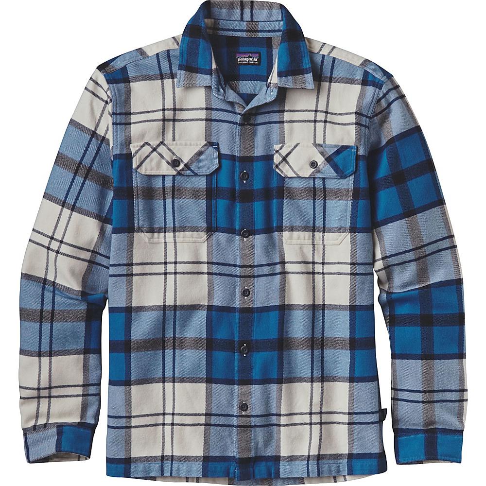 Patagonia Mens Long Sleeve Fjord Flannel XS - Sugar Pine: Bandana Blue - Patagonia Mens Apparel - Apparel & Footwear, Men's Apparel
