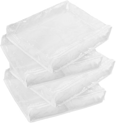 Honey-Can-Do Honey-Can-Do 4-Pack Storage Bags white - Honey-Can-Do Travel Organizers