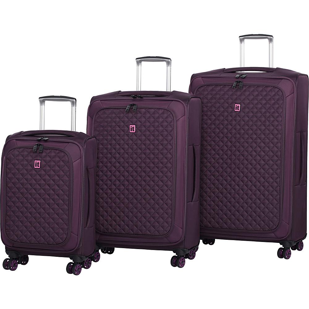 it luggage Quilt-Lite 8 Wheel 3 Piece Set Potent Purple - it luggage Luggage Sets