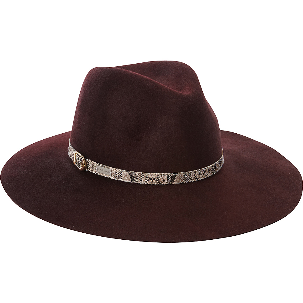 Betmar New York Tessa Fedora Burgundy-Small/Medium - Betmar New York Hats/Gloves/Scarves