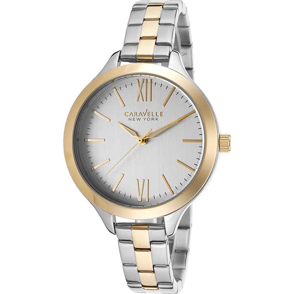 Caravelle New York Watches Womens Two-Tone Stainless Steel Watch Silver/ Gold - Caravelle New York Watches Watches