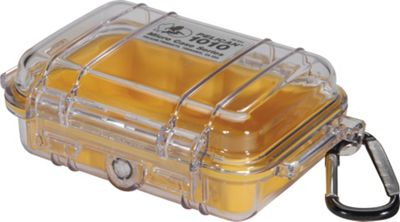 Pelican 1010-027-100 1010 Micro Case with Clear Lid and Carabiner Black - Pelican Camera Accessories