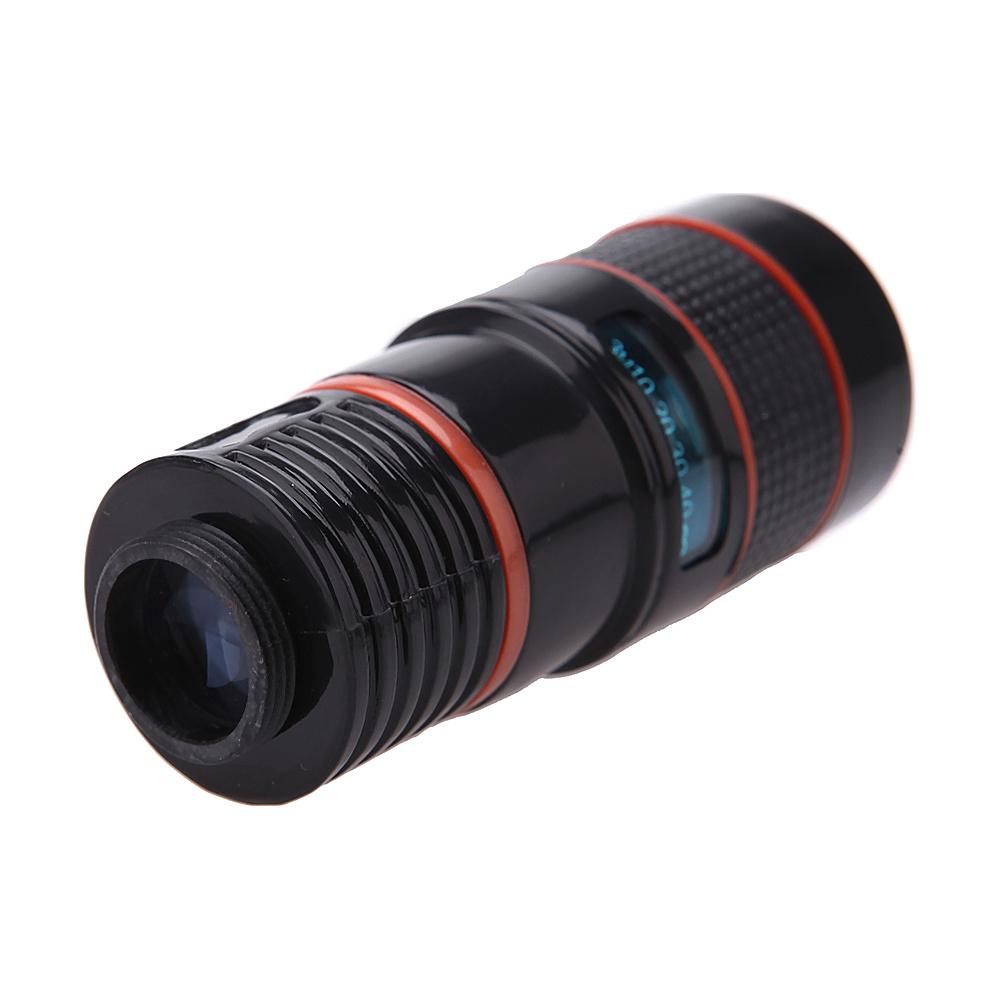 Koolulu Universal 8x Zoom Telescope Camera Lens with Clip for Smartphone Tablets Black Koolulu Cameras