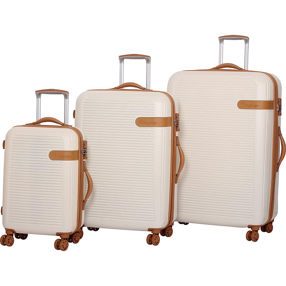 it luggage Valiant Hardside 8 Wheel 3-Piece Set Cream with Almond Trim - it luggage Luggage Sets