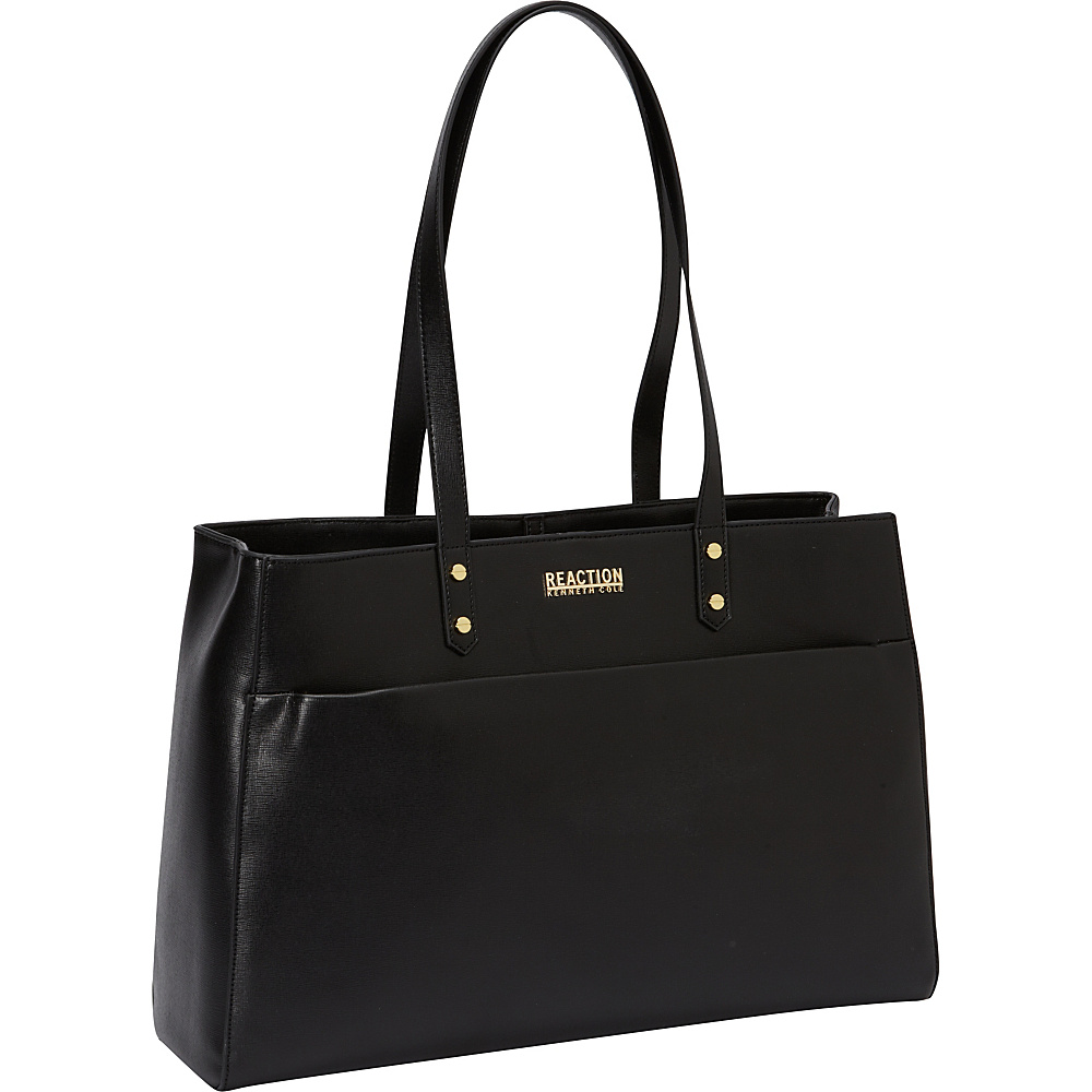 Kenneth Cole Reaction Trench Tote Womens Computer Tote Black with Gold Plated Hardware - Kenneth Cole Reaction Women's Business Bags