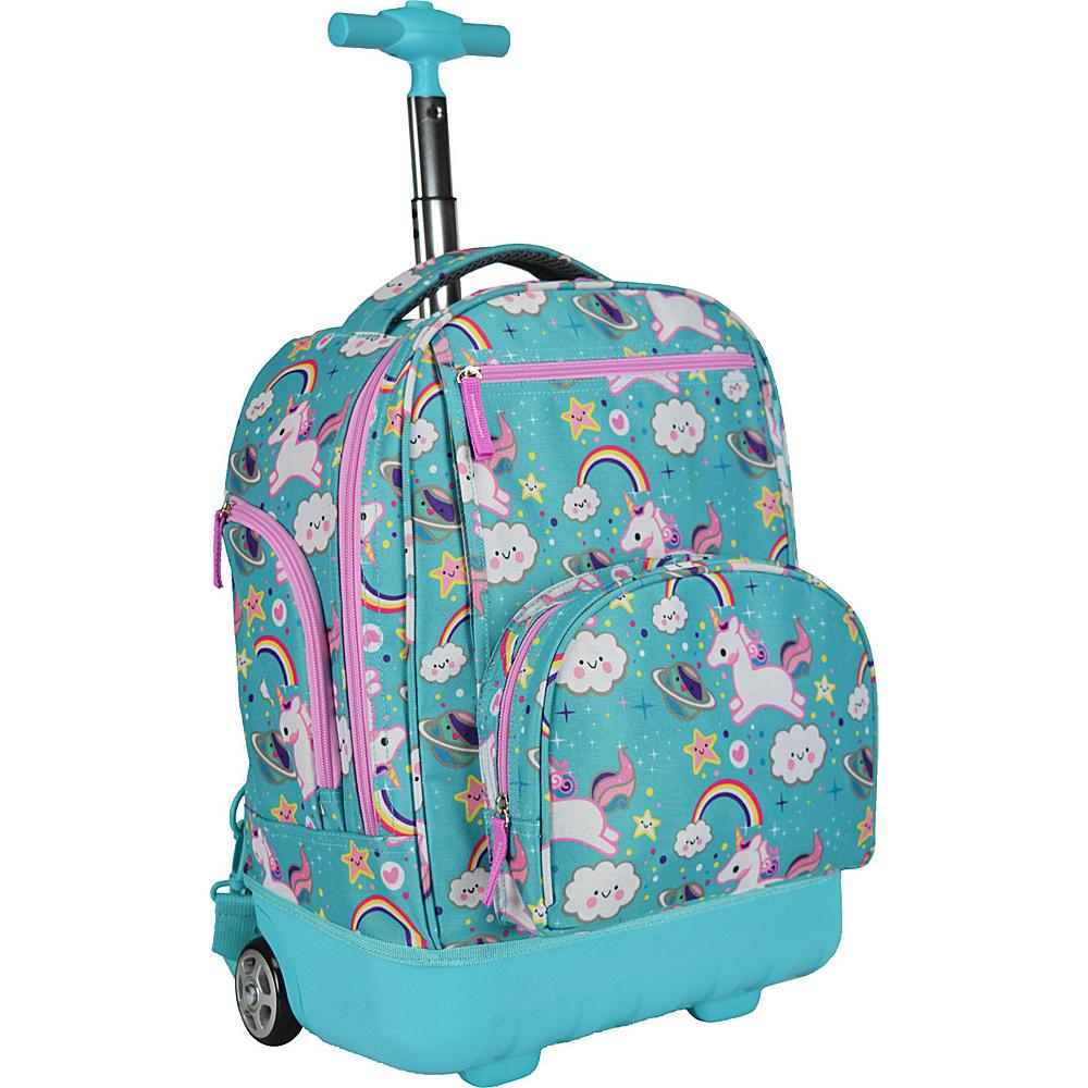 Traveler's Choice Pacific Gear Treasureland Hybrid Lightweight Rolling Backpack Unicorn - Traveler's Choice Rolling Backpacks