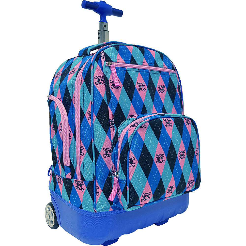 Traveler's Choice Pacific Gear Treasureland Hybrid Lightweight Rolling Backpack Argyle - Traveler's Choice Rolling Backpacks