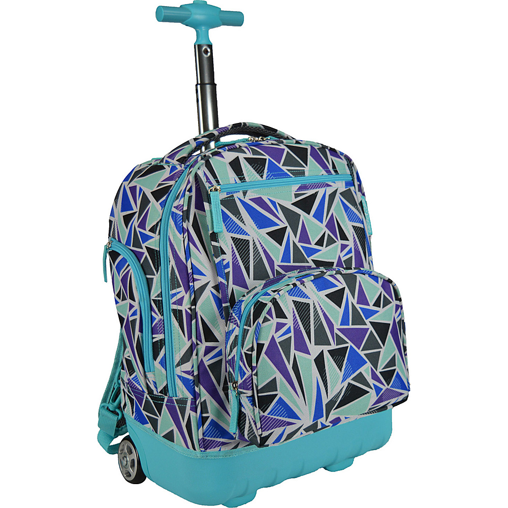Traveler's Choice Pacific Gear Treasureland Hybrid Lightweight Rolling Backpack Diamond - Traveler's Choice Rolling Backpacks