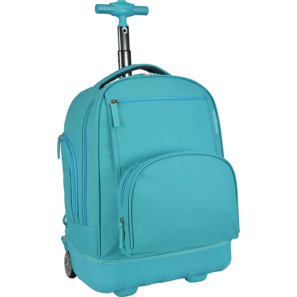 Traveler s Choice Pacific Gear Treasureland Hybrid Lightweight Rolling Backpack Teal Traveler s Choice Rolling Backpacks