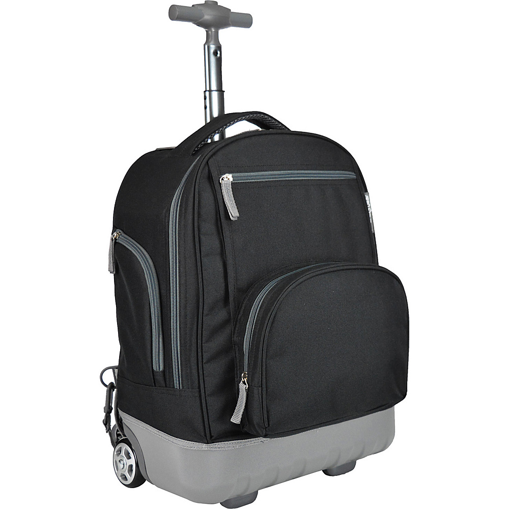 Traveler's Choice Pacific Gear Treasureland Hybrid Lightweight Rolling Backpack Black - Traveler's Choice Rolling Backpacks