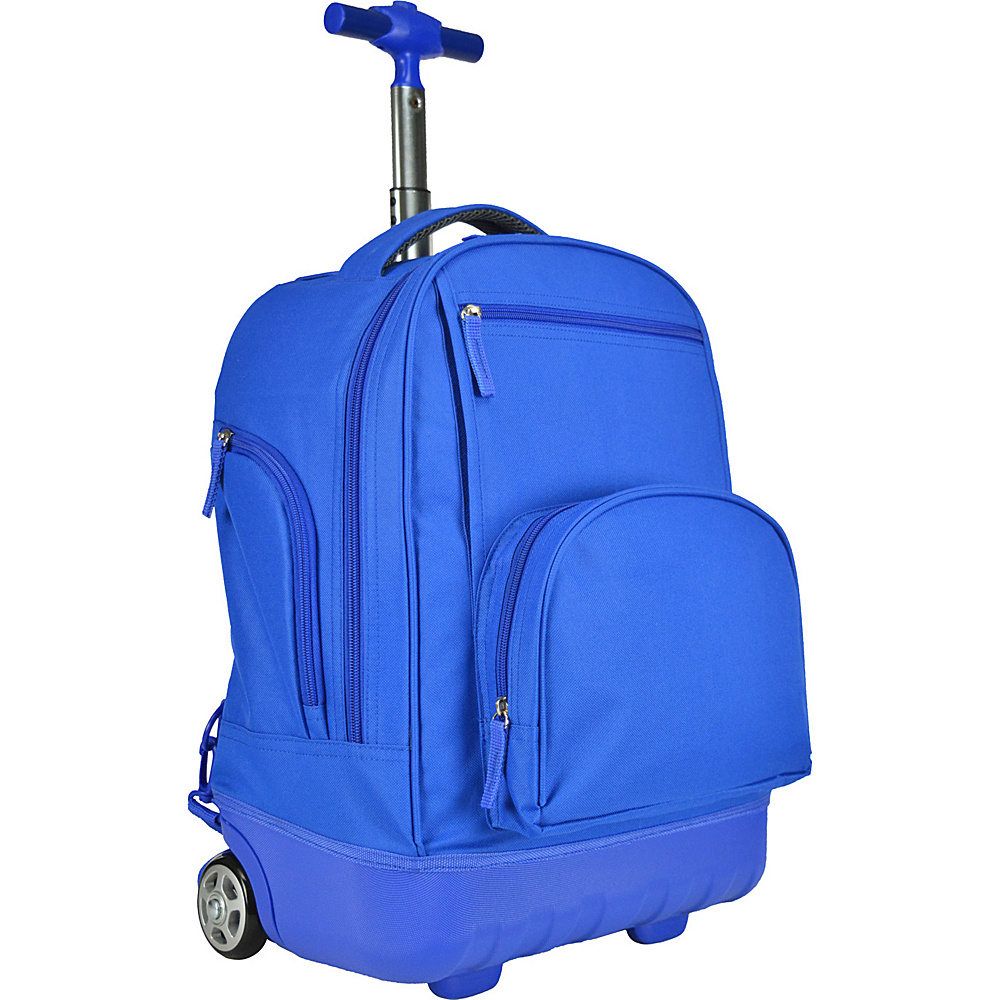 Traveler's Choice Pacific Gear Treasureland Hybrid Lightweight Rolling Backpack Blue - Traveler's Choice Rolling Backpacks