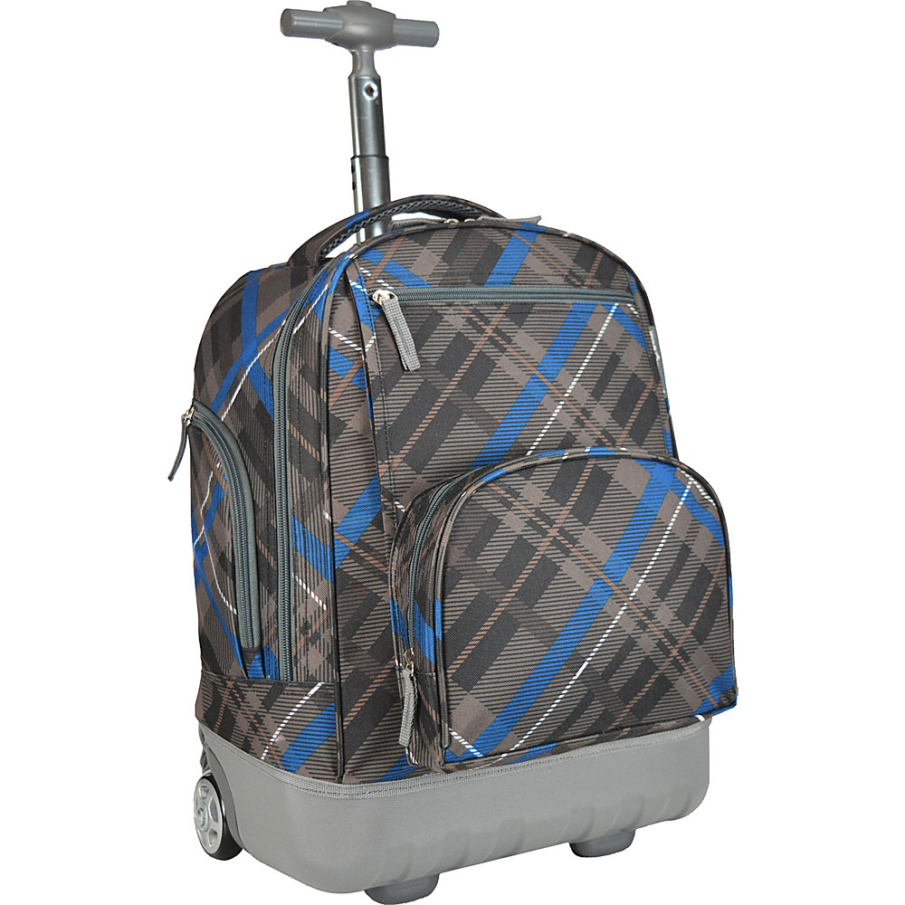 Traveler's Choice Pacific Gear Treasureland Hybrid Lightweight Rolling Backpack Gray - Traveler's Choice Rolling Backpacks