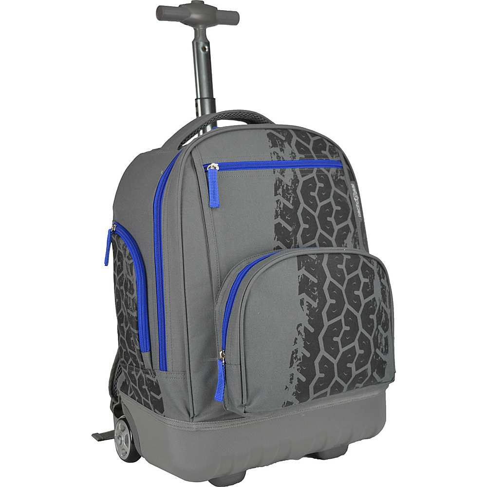 Traveler's Choice Pacific Gear Treasureland Hybrid Lightweight Rolling Backpack Tiretrack - Traveler's Choice Rolling Backpacks