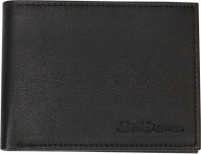 Ben Sherman Luggage Kensington Collection 5-Pocket Leather Billfold Black - Ben Sherman Luggage Men's Wallets