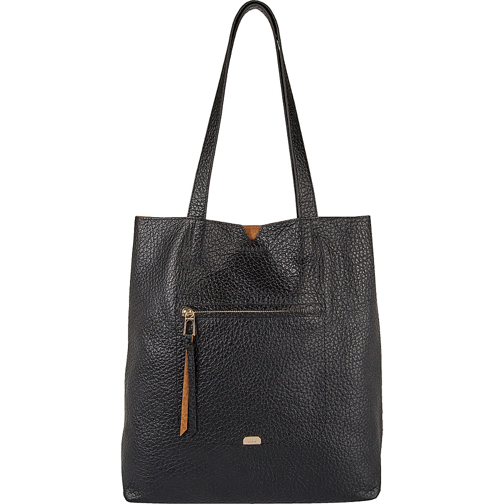 Lodis Borrego Under Lock and Key Madia Large Tote Black - Lodis Leather Handbags - Handbags, Leather Handbags